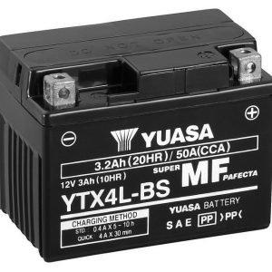 Yuasa YTX4L-BS 3Ah Maintenance Free Käynnistysakku