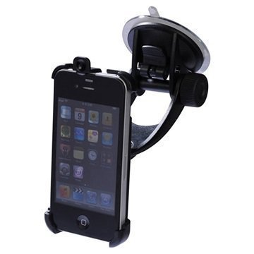 iPhone 4 / 4S iGrip T6-90503 Matkustussarja / Autopidike Musta
