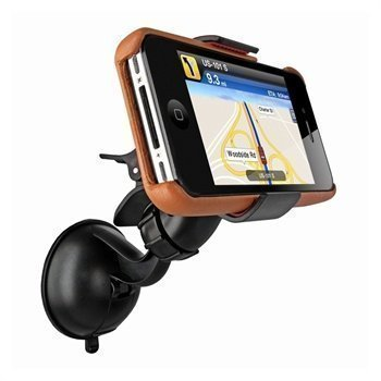 iPhone 4S Piel Frama iMagnum Teline Tuulilasiin Keltaisenruskea