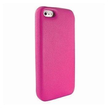 iPhone 5 / 5S / SE Piel Frama FramaGrip Nahkakotelo Fuksianpunainen