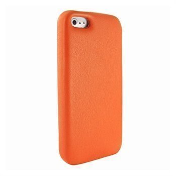 iPhone 5 / 5S / SE Piel Frama FramaGrip Nahkakotelo Oranssi