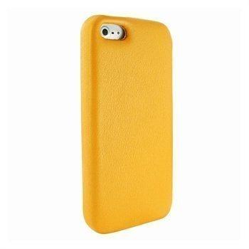 iPhone 5 / 5S / SE Piel Frema FramaGrip Nahkakotelo Keltainen