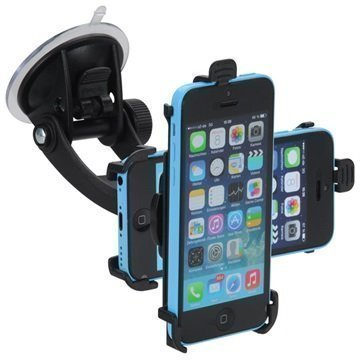 iPhone 5C iGrip T5-94969 Matkustussarja / Autopidike Musta